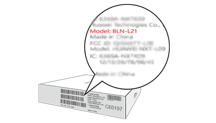Find HUAWEI Mobile model number