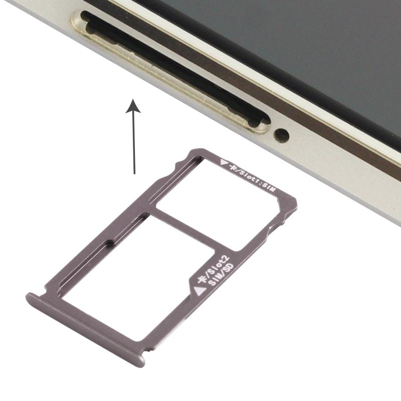 Nano SIM Card Tray + Nano SIM Micro SD Card Tray For HUAWEI Mate S